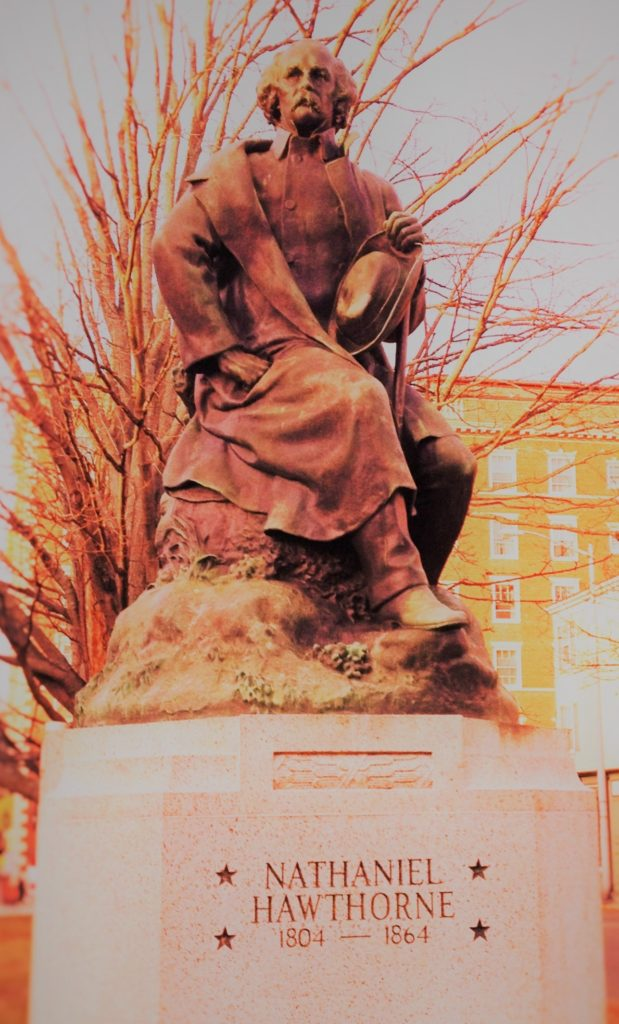 A statue of Nathaniel Hawthorne, author of The House of the Seven Gables, in Salem, Mass. Photo credit: M. Ciavardini