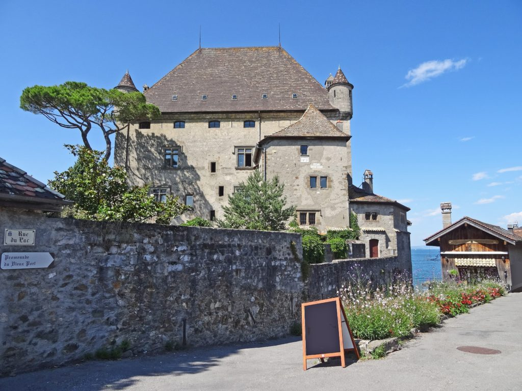 The castle in Yvoire, France, was built in the Middle Ages. Photo credit: © foxytoul — stock.adobe.com