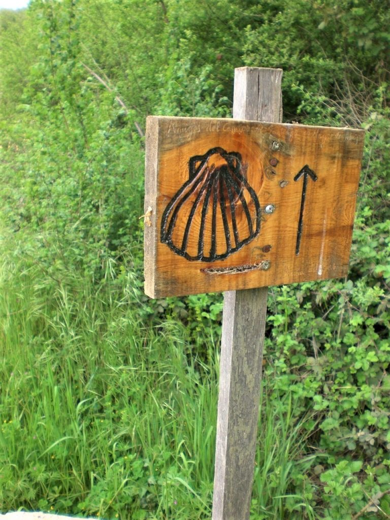 Scallop markers point the way on the Walk of Saint James.
