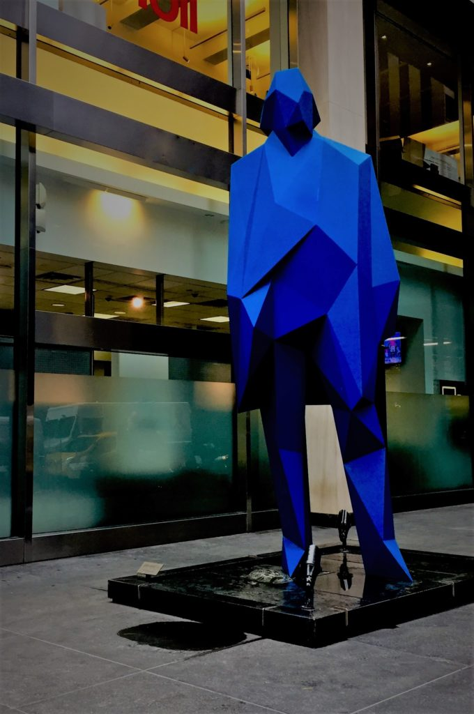 You never know when you'll come across the blue man. Photo credit: M. Ciavardini