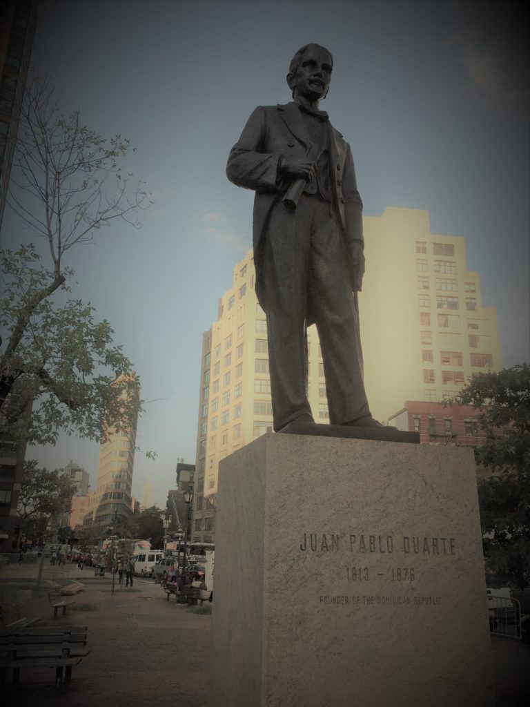 Tribute to Juan Pablo Duarte in Duarte Square in New York City. Photo credit: L. Tripoli