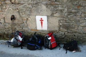 Souls hardy enough to walk the path of Saint James in Spain carry their own loads.