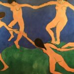 A portion of Henri Matisse's Dance at the Museum of Modern Art in New York City. The work was a study for the final version, which is at the Hermitage in St. Petersburg, Russia. Photo credit: M. Ciavardini