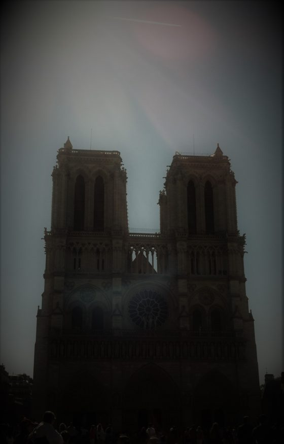 Capture Notre Dame Cathedral--and possibly a spectral presence--in just the right light. Photo credit: V. Laino