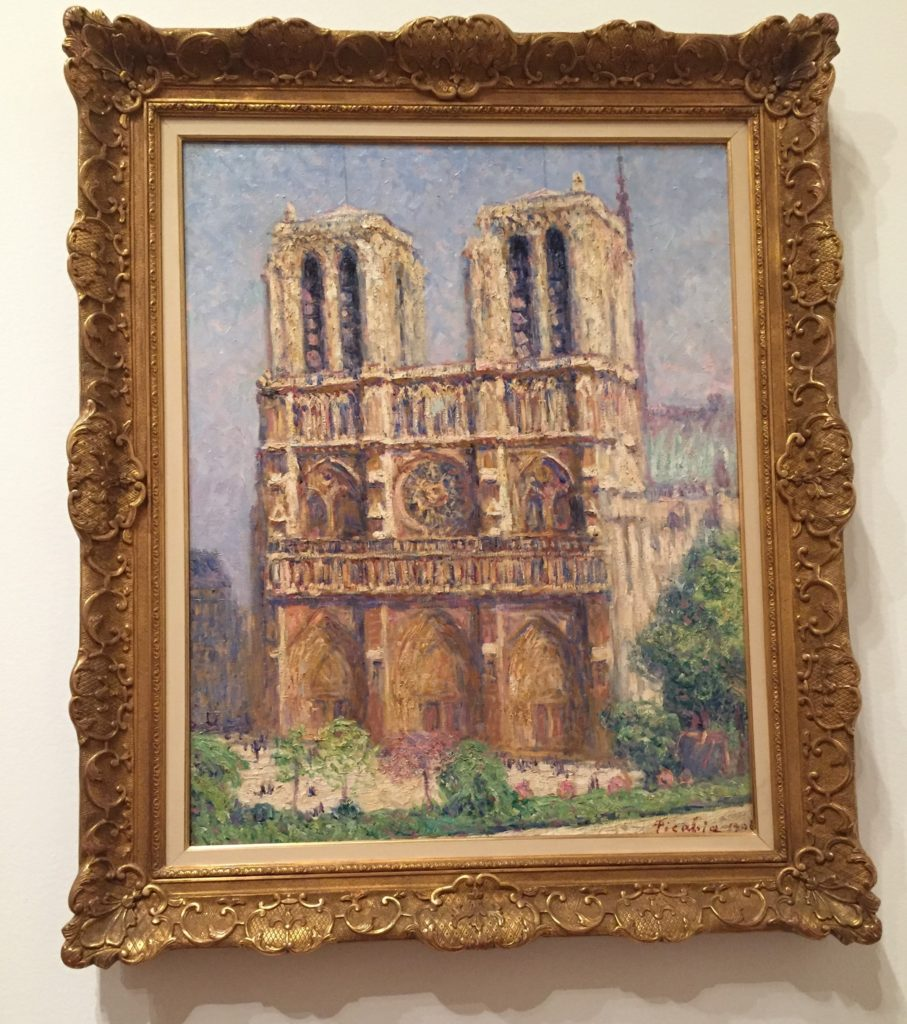 Artist Francis Picabia's take on Notre Dame Cathedral in 1906, on display at the Museum of Modern Art (MOMA) in New York City.
