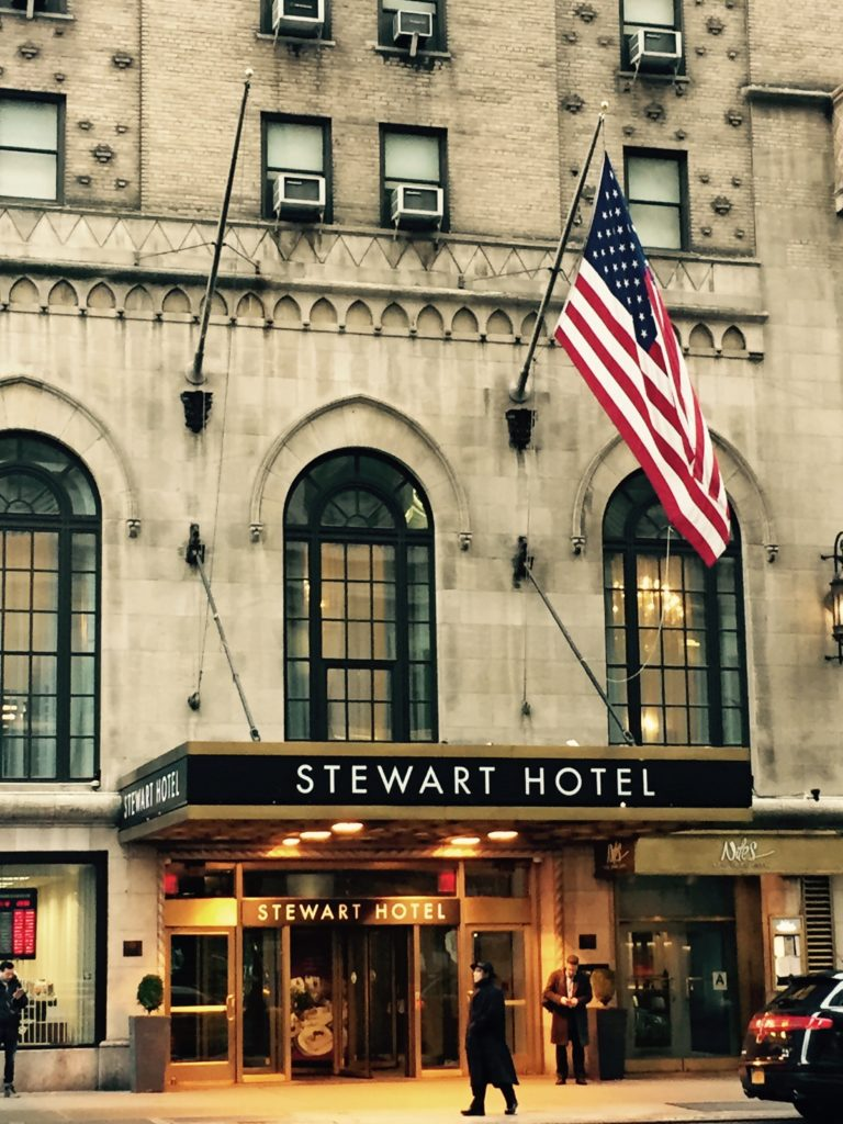 Venue Tourism: Selecting New York City's Stewart Hotel for its convenience to Madison Square Garden. Photo credit: M. Ciavardini