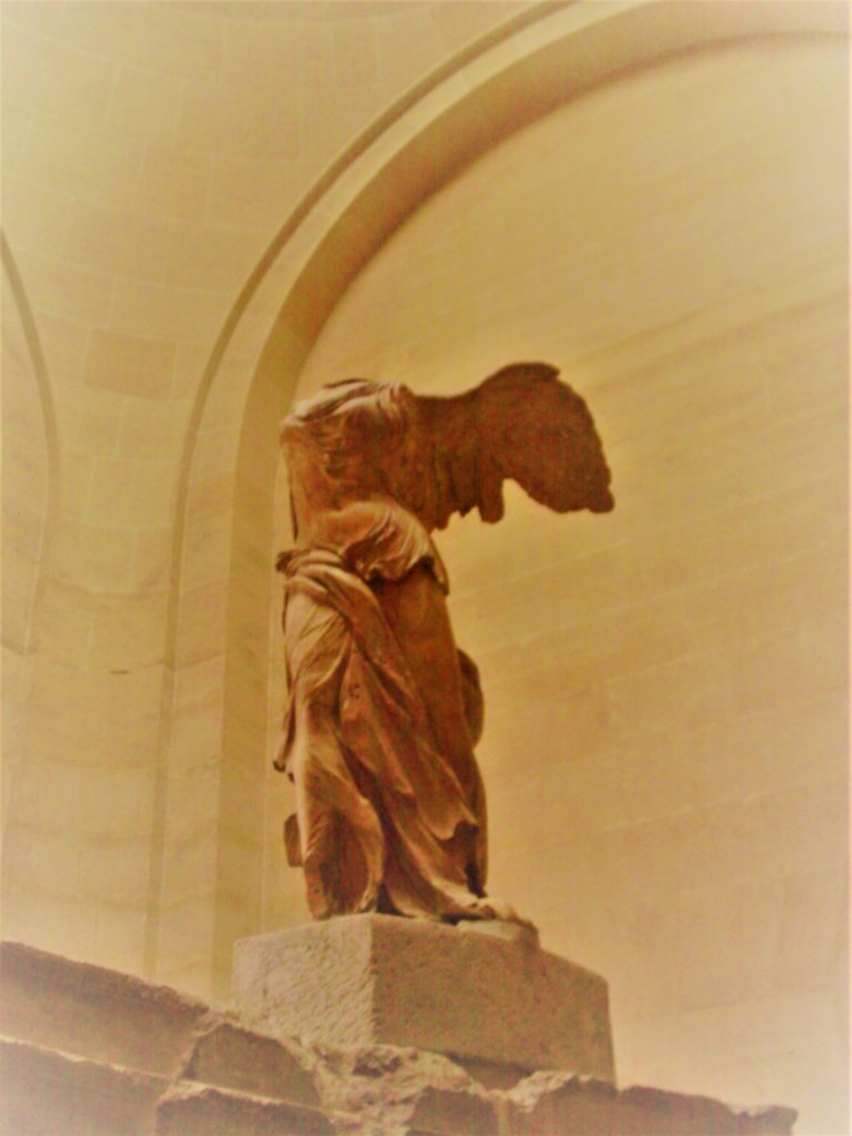 The Winged Victory of Samothrace on display at the Louvre, Paris. Photo credit: L. Tripoli