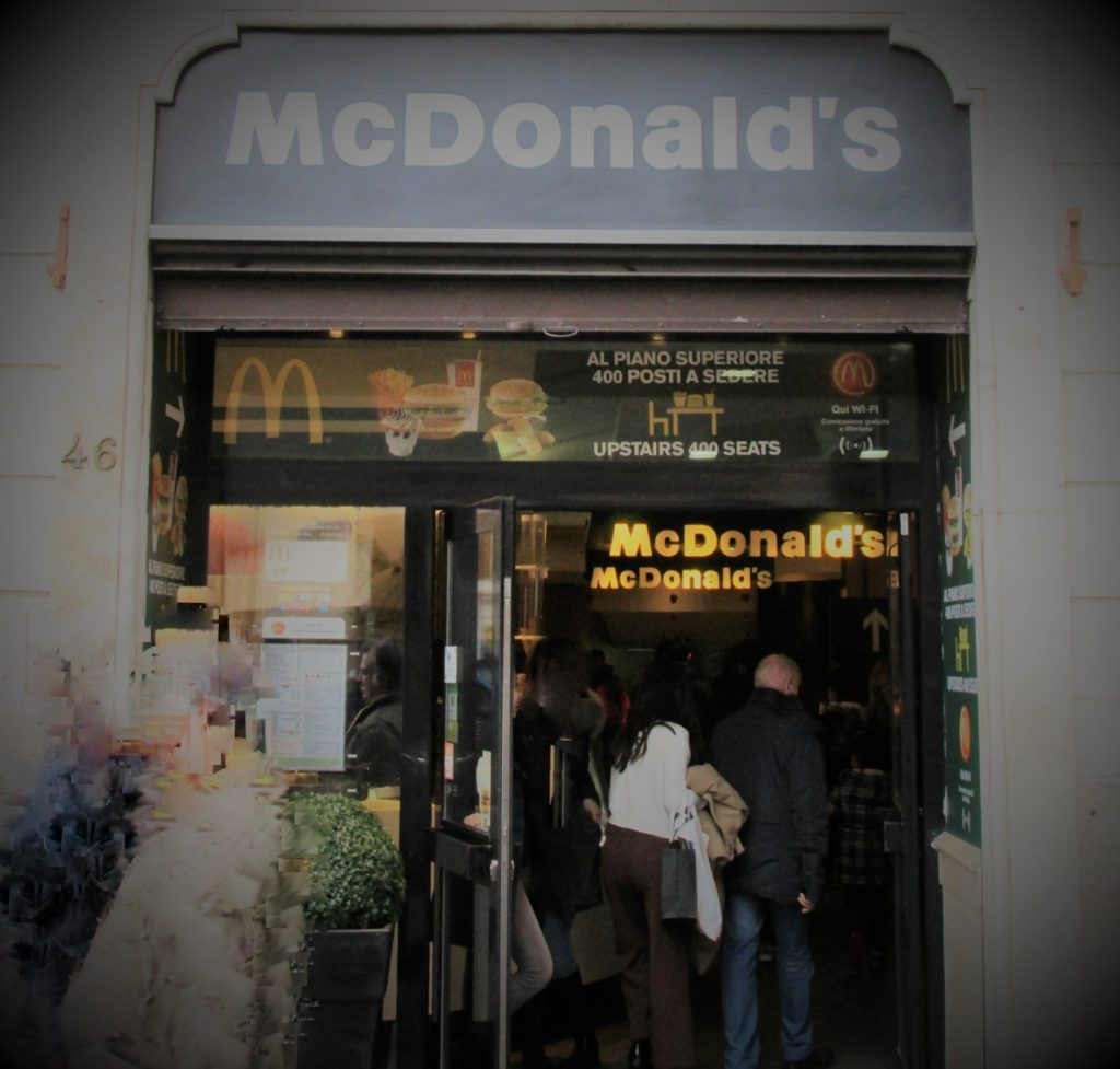 A little taste of home at McDonald's in Rome (near the Spanish Steps). Photo credit: M. Ciavardini