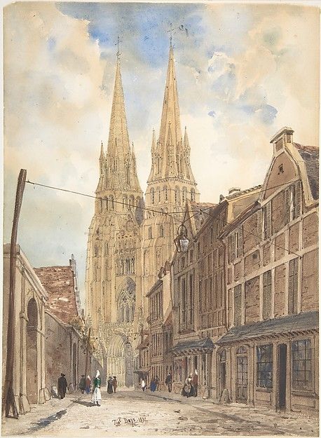 View of Bayeux by Thomas Shotter Boys, 1832