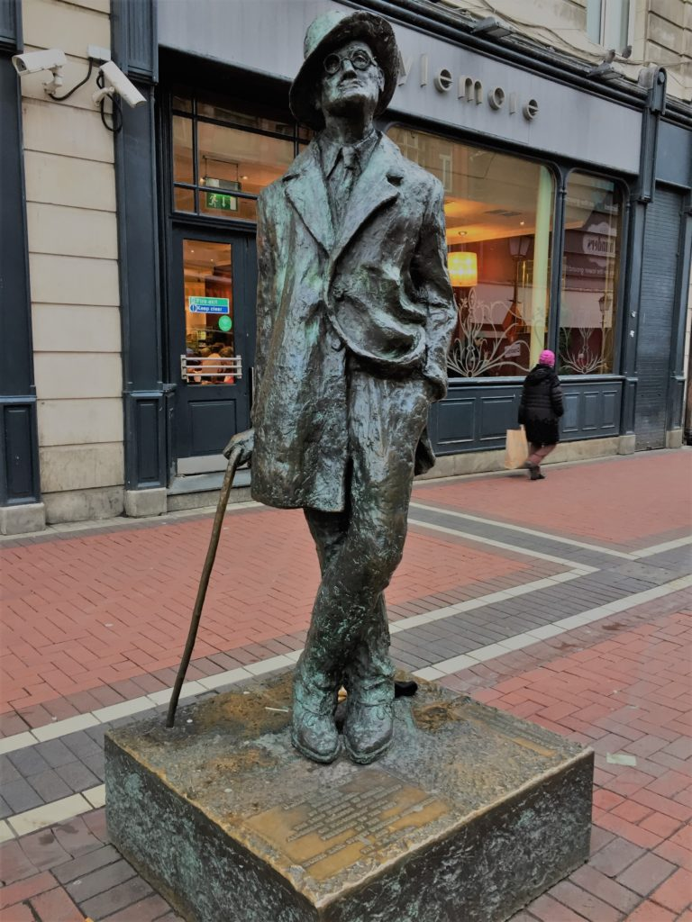 A statue of author James Joyce in Dublin. Photo credit: M. Ciavardini