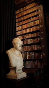Floor-to-ceiling bookshelves in the Long Room at Trinity College, Dublin. Photo credit: M. Ciavardini