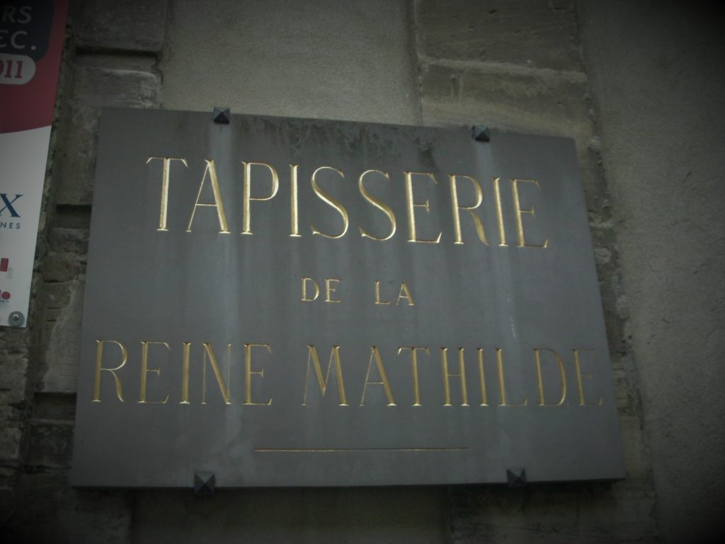 Was the Bayeux Tapestry made by Queen Mathilde, for Queen Mathilde, or by and for others? Photo credit: L. Tripoli