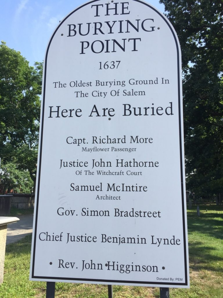 The Old Burying Point in Salem, Mass. is the final resting place of some notables. Photo credit: M. Ciavardini