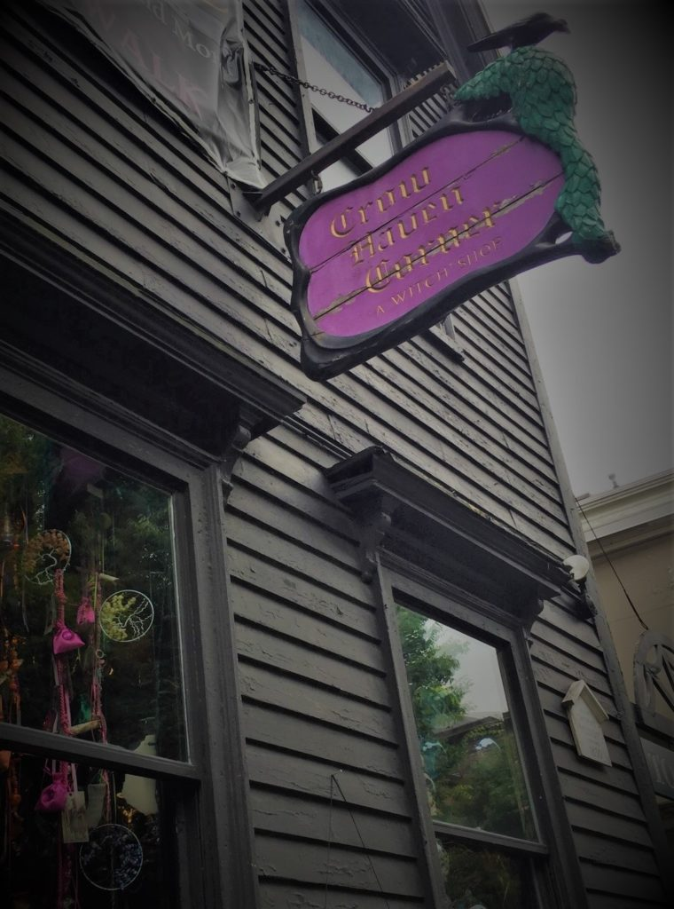 A bit of magic at Crow Haven Corner, Salem's oldest witch shop. Photo credit: M. Ciavardini