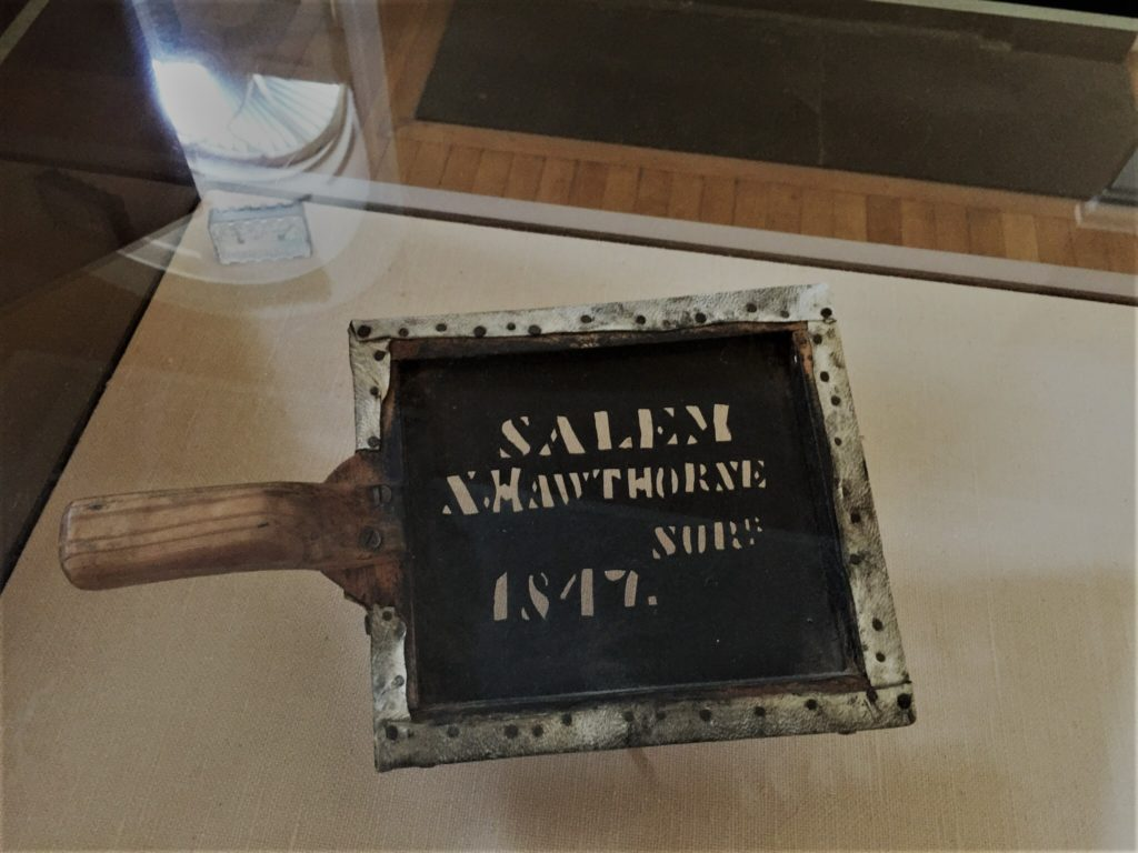 Author Nathaniel Hawthorne had a day job at the Custom House in Salem, Mass.. He would stamp goods with his stencil to indicate that he had inspected the material. Photo credit: M. Ciavardini