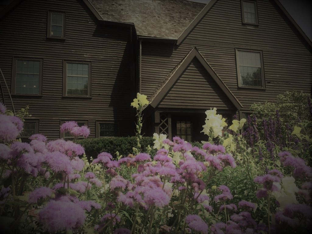 The author Nathaniel Hawthorne drew inspiration for his art from this house of seven gables in Salem, Mass. Photo credit: M. Ciavardini