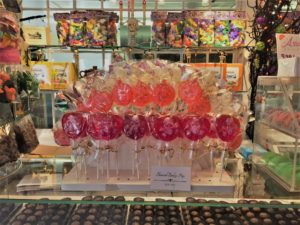 Seeking a sugar rush at Ye Old Pepper Companie candy store in Salem, Mass. Photo credit: M. Ciavardini