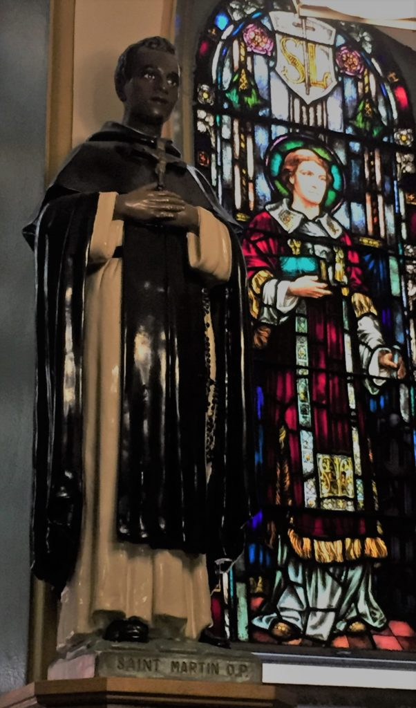 A depiction of Saint Martin at Our Lady of Guadalupe at Saint Bernard Church in New York City. Photo credit: M. Ciavardini
