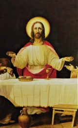 The Last Supper menu: Is that a baked potato or a dinner roll? This image of the Last Supper is on display at Our Lady of Guadalupe at Saint Bermard Church on West 14 Street in New York City. Photo credit: M. Ciavardini. http://bashfuladventurer.com #BashfulAdventurer