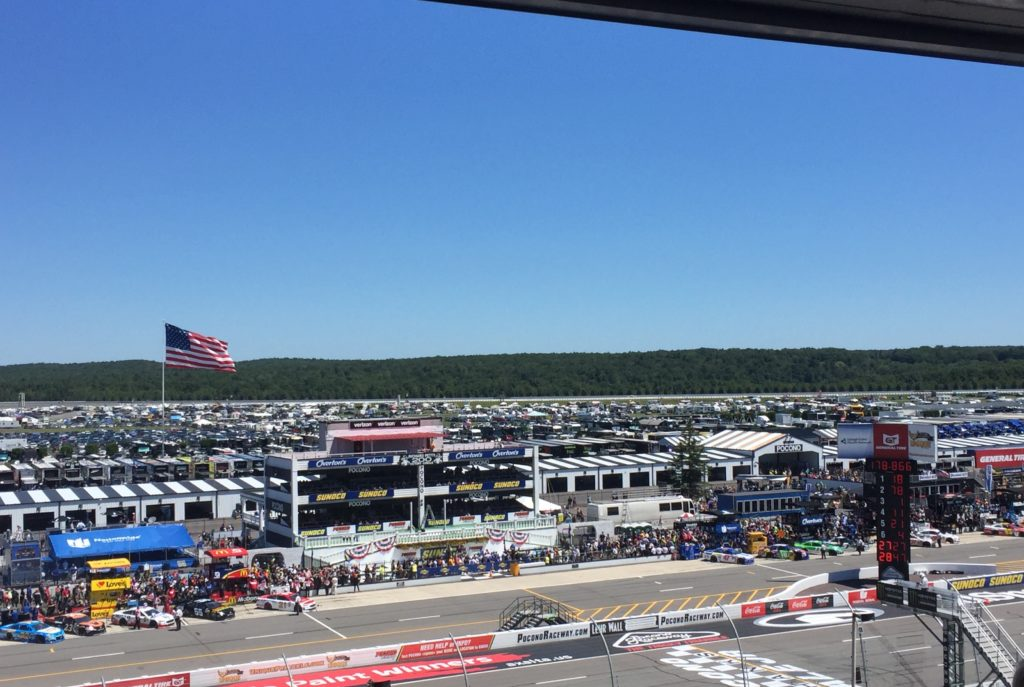 Good views and good catering make for a great day at Pocono Raceway. Photo credit: M. Ciavardini.