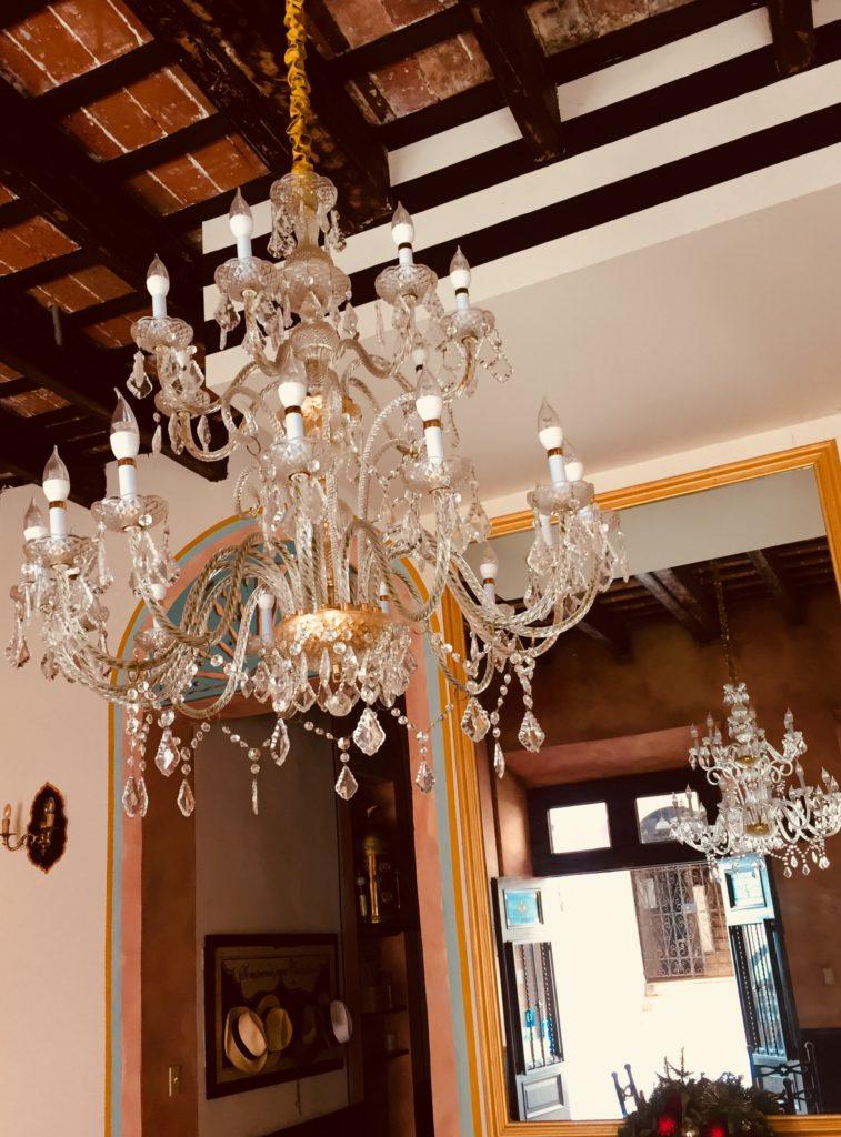 Staying in San Juan: The lobby of boutique hotel La Terraza de San Juan. Photo credit: M. Ciavardini.